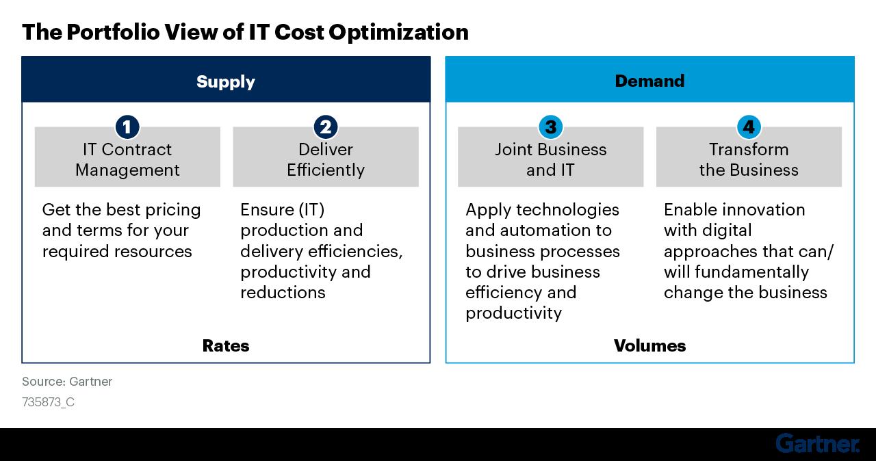 Figure 1: The Portfolio View of IT Cost Optimization