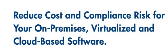 Reduce Cost and Compliance Risk for Your On-Premises, Virtualized and Cloud-Based Software