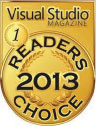 Visual Studio Magazine's 2013 Readers Choice Award