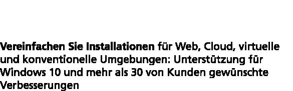 InstallShield 2015: Stark in die Zukunft