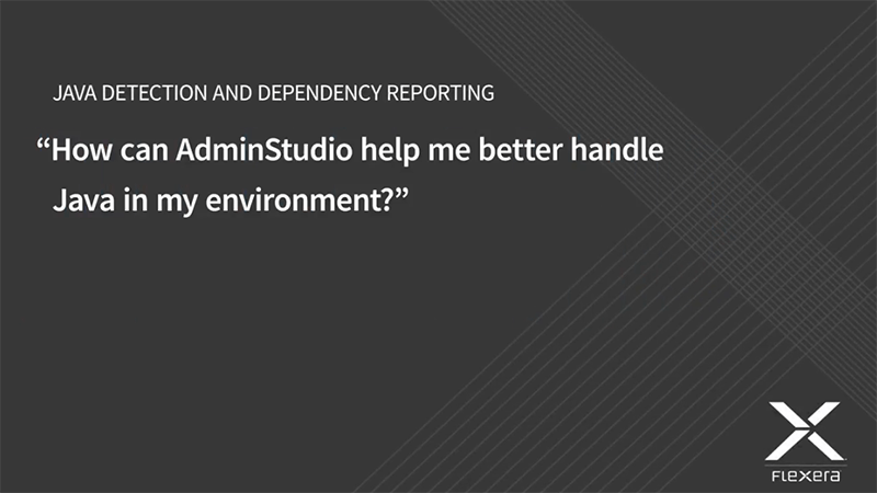 AdminStudio Java Dependency Checking