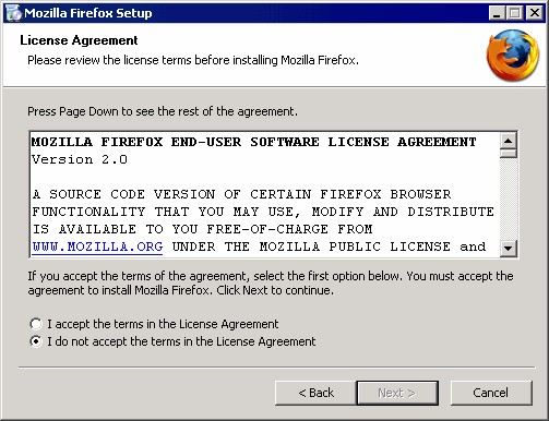 Mozilla Frifox Privacy Policy