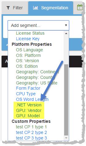 Segmentation Reporting for GPU and .NET