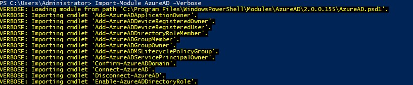 Troubleshoot Azure AD Connection Problems using Po
